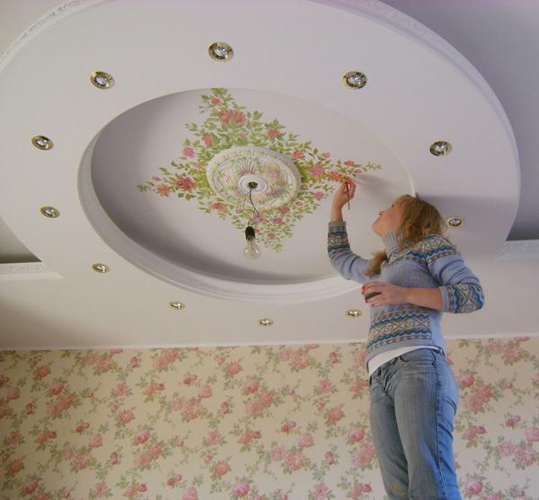 Декорирование потолка Украсить неровный потолок